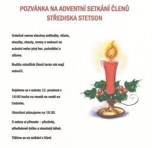 Pozvánka na adventní setkání